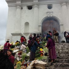 Flower market at the church at Chichicastenango