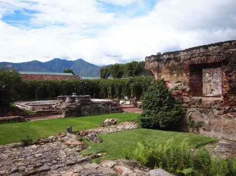 The grounds of Casa Santo Domingo