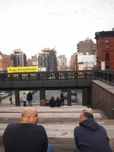 The city view from the Highline