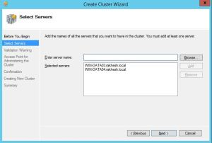 Adding Servers to Cluster