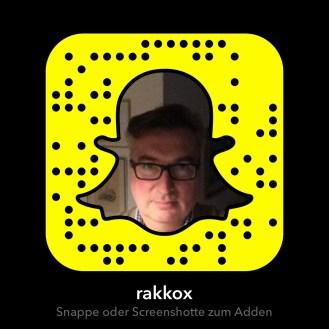 Mein Snapcode - scannen und mich in der App als Freund adden.