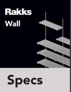 Rakks Wall-mounted Shelving Specifications