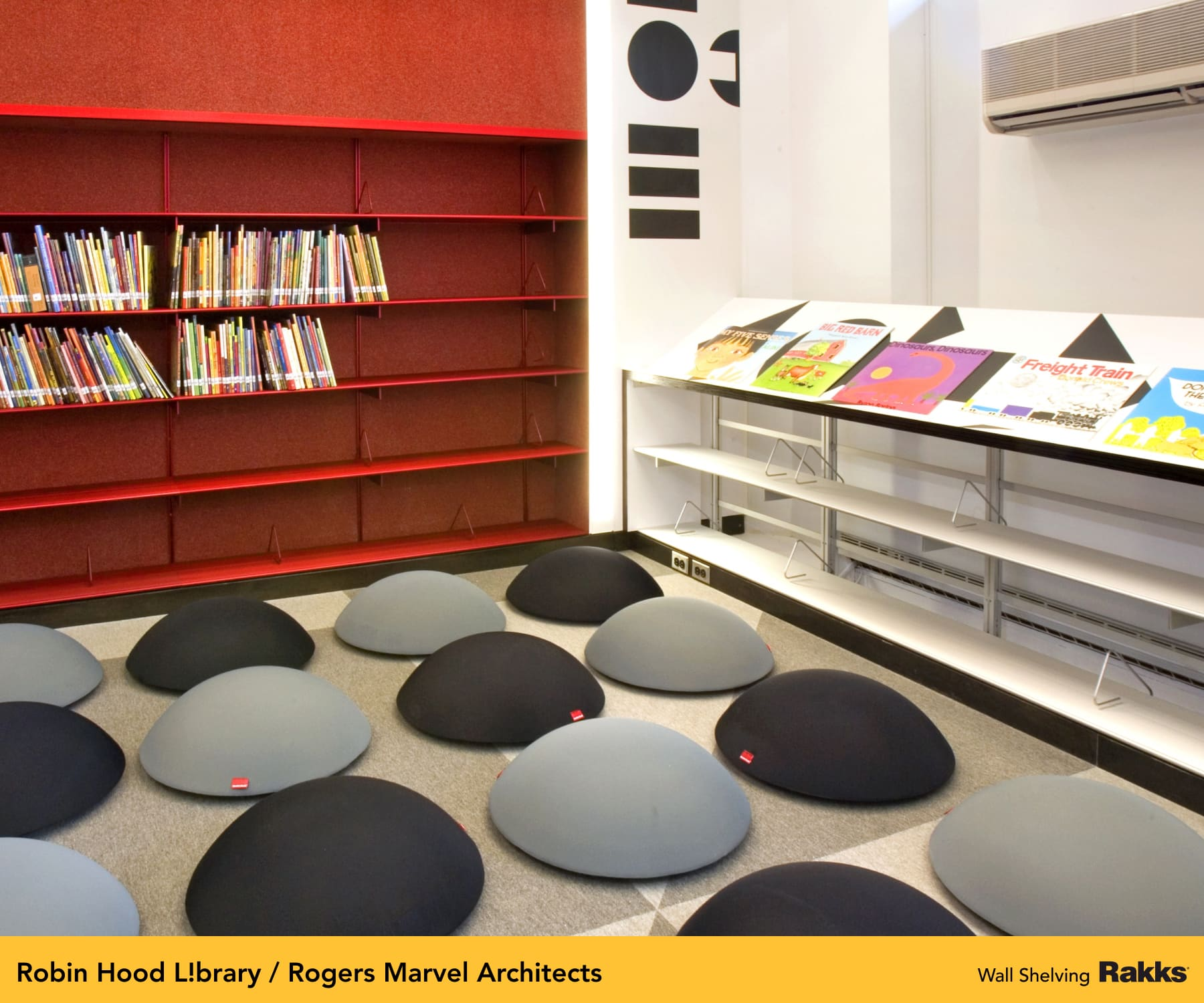 Robin Hood Library featuring Rakks Wall Shelving