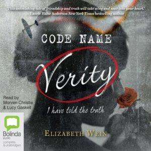 Code Name Verity audiobook cover art