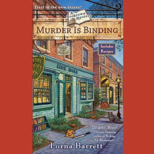 Murder Is Binding audiobook cover art