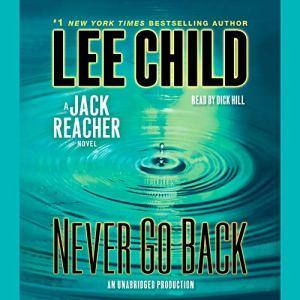 Never Go Back audiobook cover art
