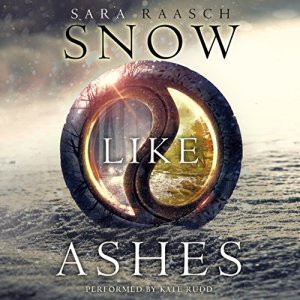 Snow Like Ashes audiobook cover art