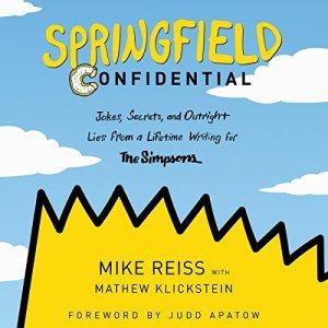 Springfield Confidential audiobook cover art