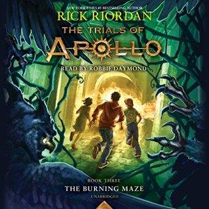 The Burning Maze audiobook cover art