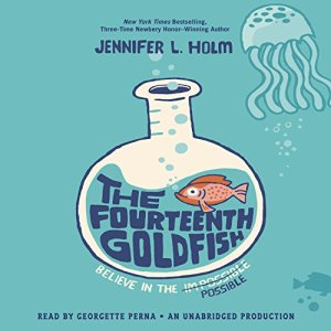 The Fourteenth Goldfish audiobook cover art