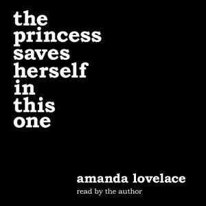 the princess saves herself in this one audiobook cover art