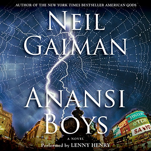 Anansi Boys audiobook cover art