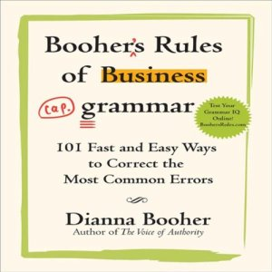 Booher's Rules of Business Grammar audiobook cover art