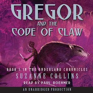 Gregor and the Code of Claw audiobook cover art