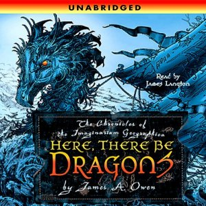 Here, There Be Dragons audiobook cover art