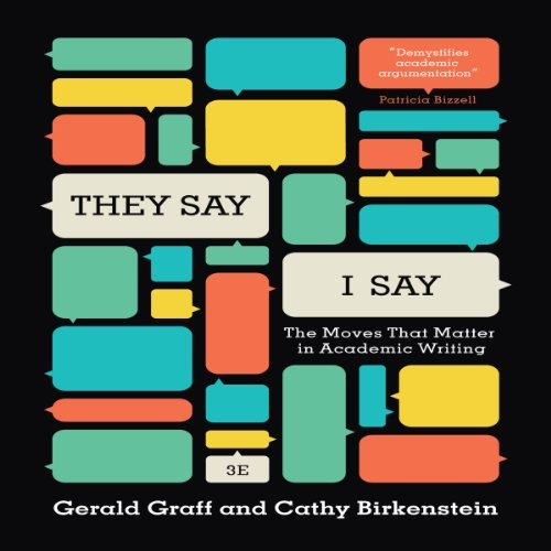 """""""They Say / I Say"""" audiobook cover art"""