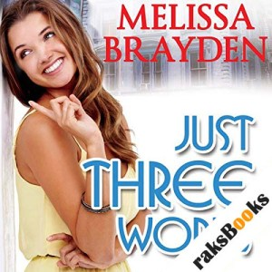 Just Three Words audiobook cover art