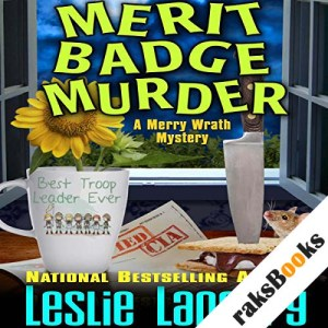 Merit Badge Murder audiobook cover art