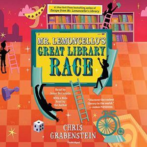 Mr. Lemoncello's Great Library Race audiobook cover art
