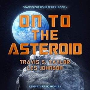 On to the Asteroid audiobook cover art