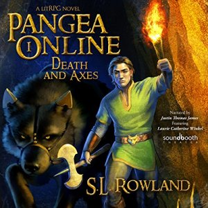 Pangea Online Book One: Death and Axes: A LitRPG Novel audiobook cover art