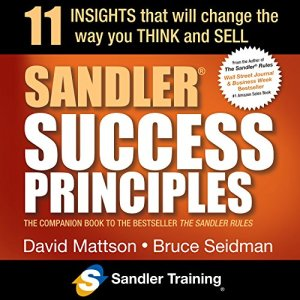 Sandler Success Principles audiobook cover art