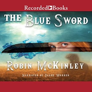 The Blue Sword audiobook cover art