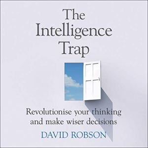 The Intelligence Trap audiobook cover art