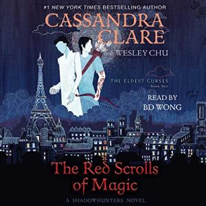 The Red Scrolls of Magic audiobook cover art