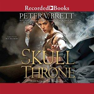 The Skull Throne audiobook cover art