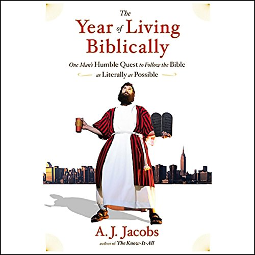 The Year of Living Biblically audiobook cover art