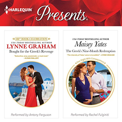 Bought for the Greek's Revenge & The Greek's Nine-Month Redemption Audiobook By Lynne Graham, Maisey Yates cover art