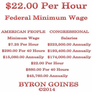 $22.00 Per Hour Federal Minimum Wage Audiobook By Byron Goines cover art