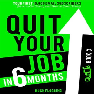 Quit Your Job in 6 Months: Book 3: Your First 10,000 Email Subscribers (How to Get Them, and How to Treat Them) Audiobook By Buck Flogging cover art