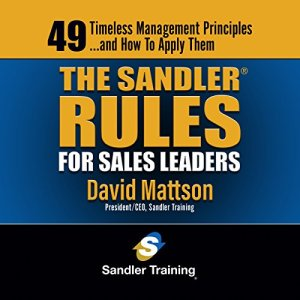 The Sandler Rules for Sales Leaders Audiobook By David Mattson cover art