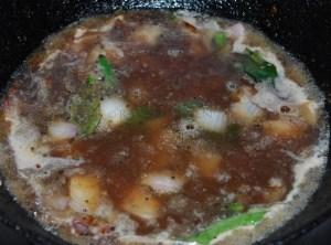 parangikkai chutney step 6