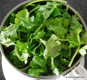 step 4 add coriander leaves