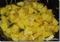 Potato,turmeric,salt added