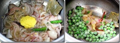 How to make peas pulao step 1