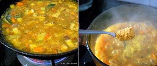 boil,add sambar powder