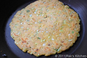 cooked cabbage paratha