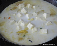 Add paneer and coconut milk