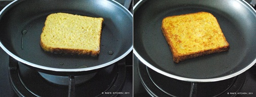 how to make eggless french toast step2