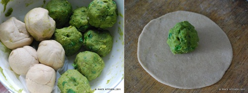 step 4 Peas paratha recipe