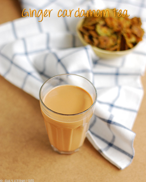 ginger cardamom tea recipe