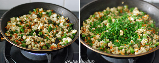 How to make paneer fried rice 4