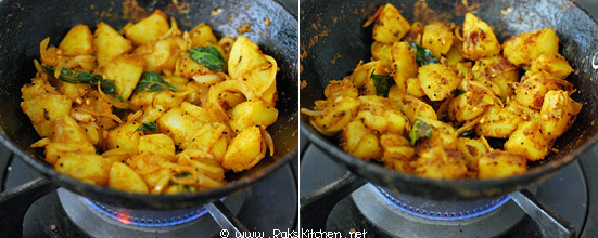 how to make potato curry step3