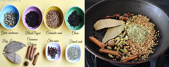 garam masala powder recipe step 1