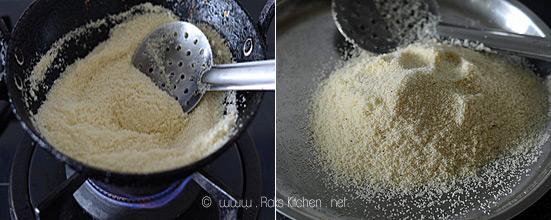 How to make rava upma step 1