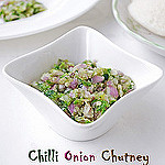 Green chilli onion chutney recipe
